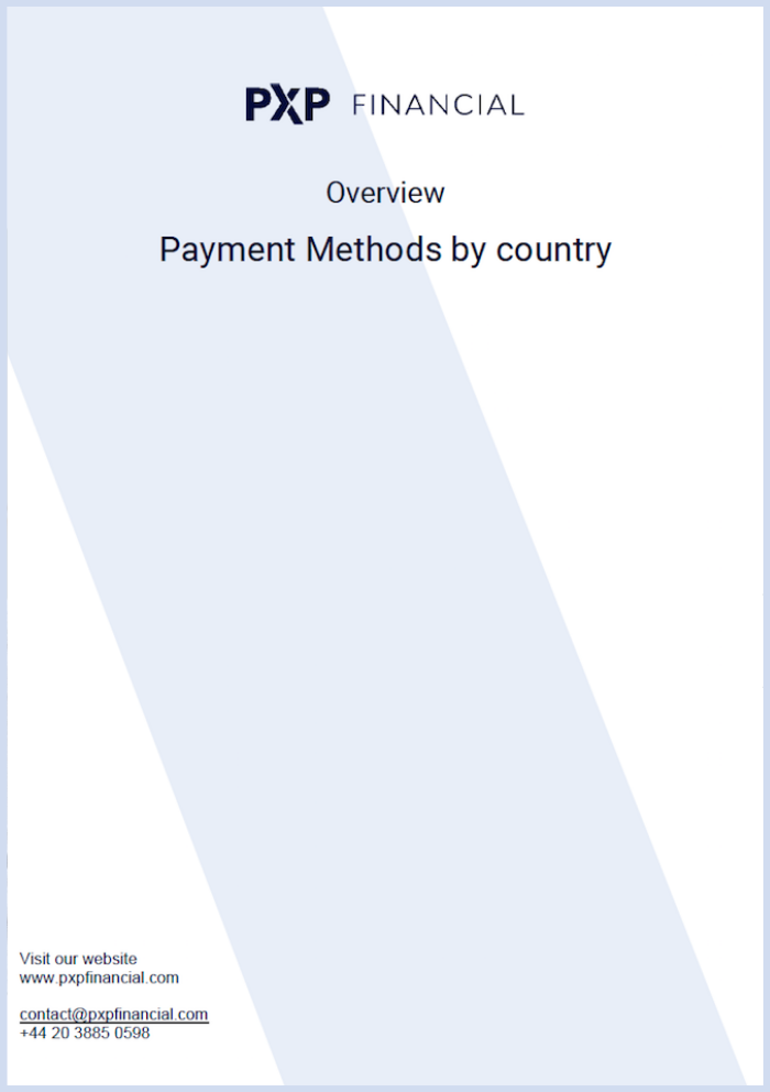 PXP Payment Methods by Country